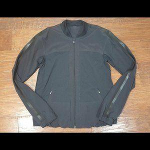 Lululemon Men's Black Soot Front Zip Jacket Small